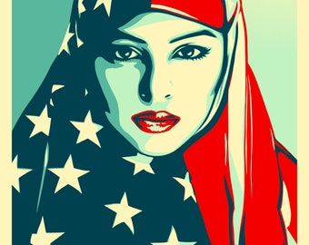 We the People Poster - Prints, Canvas, Framed - Women's March Poster - Shepard Fairey Poster - We the People Are Greater Than Fear Poster