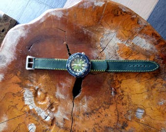 Handcrafted Crazy Horse Leather Watch Strap/Band