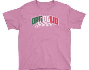 Orgoglio Italiano - Italian Pride Heritage Themed Youth/Kids Unisex Short Sleeve T-Shirt