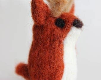 Felted Deer; Handmade Needle Felted Deer; Woodland Deer