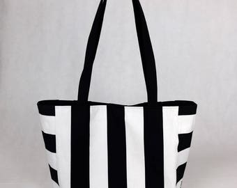 Tote bag Oversize stripes - horizontal stripes, tote bag, course/computer bag, weekend bag, shopping/market, men, women gift gift bag