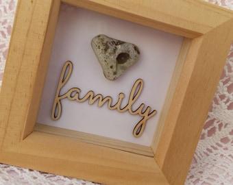 Heart Pebble frame - Family