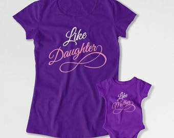 Mom And Daughter Matching Outfits Mother Daughter T Shirt Mommy and Daughter Shirts Family Gifts Like Daughter Like Mother TEP-216-215