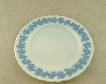 Wedgewood Plate - White with Blue