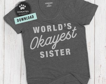 Sister Shirt SVG | Funny Gift Cut File | Funny Gift SVG | Funcle SVG | Funny Uncle Svg Funny Family Svg Clipart Dxf Png Cut File for Cricut