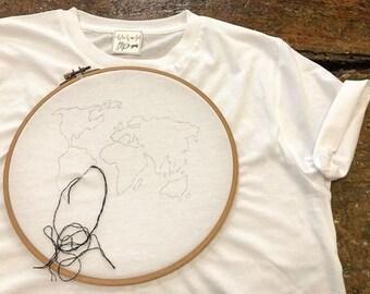 World-Hand Embroidered Tee