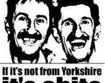 50 X 35 Mm Double Sided Keyring  Yorkshire Humour  Chuckle Brothers