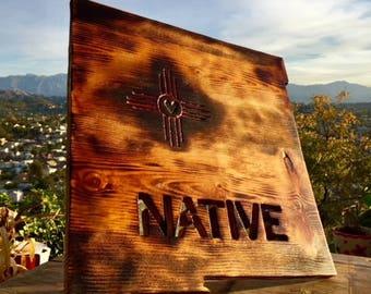 New Mexico NATIVE Cutout | Custom Wood Wall Decor