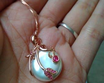 Big size Edison pearl Pendant(White color)