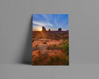 Monument Valley Sunrise Metal Print