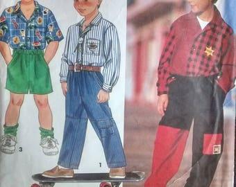 Boy's shirt, shorts, pants pattern