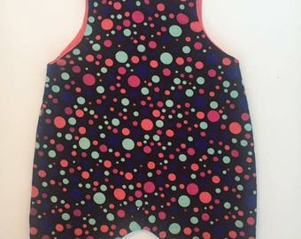 Ditzy  - Handmade Reversible Romper - Baby Gift - Girls - Toddler