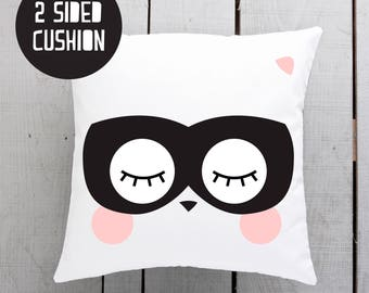 masked animal, kids pillow, kids cushion, childs pillow, childs cushion