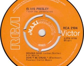 1971 45rpm Maxi Single--Hound Dog/Dont be Cruel/ Heartbreak Hotel RCA 2104 Mono