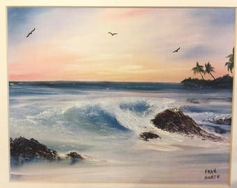 """Crashing Wave by Fran North, Hand Signed and Numbered, 11"""" x 14"""""""