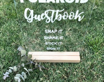 Acrylic Perspex A4 Polaroid Guest Book Sign