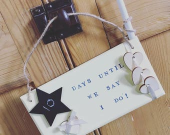 Wedding Countdown Sign/Gift