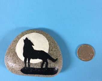 Wolf painted Rock