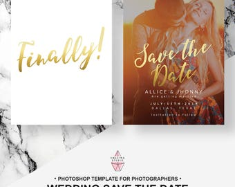 Save the Date Printable, Save the Date Template, Save the Date Postcard, Photoshop, Save the Date Cards, Save the Date Photo Template