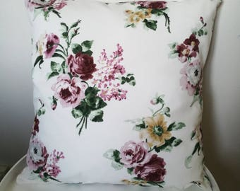 Pink flowers, Pink Flowers Cushion pillow