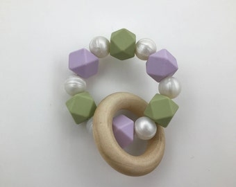 Mermaid Green / Teething Ring / Gum Soother / Teething Baby / Teether / Teether Ring / Mermaid / Silicone Ring / Baby Shower / Baby Gift