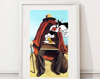 René Magritte/Tweety and Sylvester