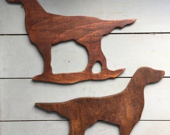 Irish Setters - Handmade Wooden- Dog Wall Plaques