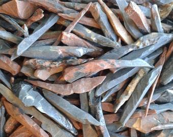 "1 Pound Obsidian Natural Mahogany & Black Needle Crystals 1""-5"""