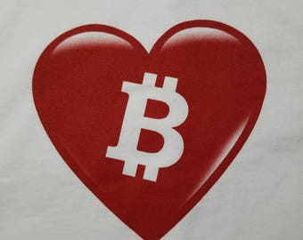 I LOVE BITCOIN - Bitcoin Themed T-Shirt