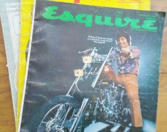 3 Vintage ESQUIRE Magazines from the early 1970's