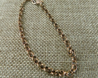 Brass Chain Bracelet, Chain and Toggle Bracelet, Chain Jewelry