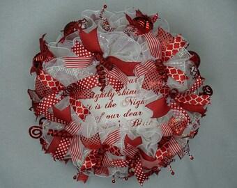 Savior's Birth Christmas Wreath for Front Door