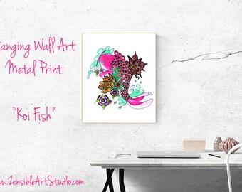 Artisan Koi Fish Zentangle Art Blank Book Journal and Sketchbook - Custom Journal Cover-gift for artist-gift for her -tattoo art