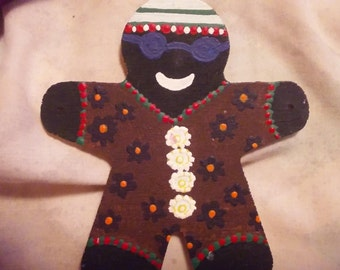 Reagae/Rasta Gingerbread Man Christmas Ornament
