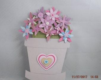 3-D Flower Pot Birthday Card