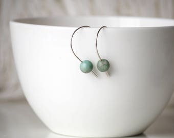 Chinese Turquoise and sterling silver earrings