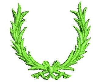 frame green wreath embroidery design modern designs machine pes mini embroidery frame ornate frame frames wreath - Wreath Frame