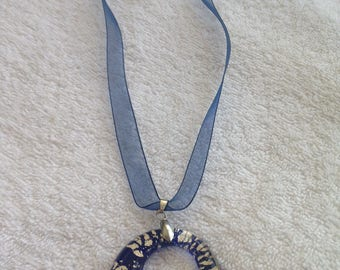 Blue Murano glass pendant necklace