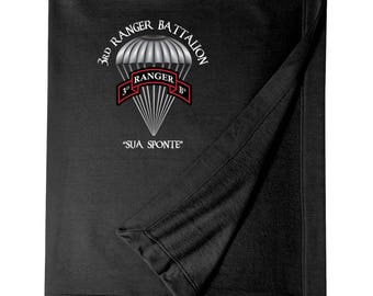 3/75th Ranger Battalion Embroidered Blanket-3829