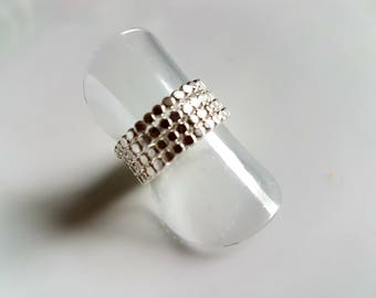 Sterling silver using 2mm wire stacking rings, contemporary stacking rings