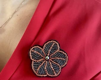 Flower brooch, flower pin