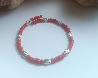 Red and Silver Ladybug bracelet