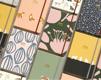2018 Keep the memory / diary / note / line note / scheduler / calendar / 2018 diary / planner / illustration