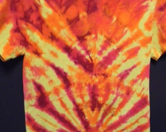 Adult Small Tie Dye Short Sleeved Tee Shirt