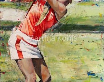"Original Golf painting ""Great Game"""