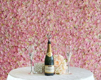 Pink Ivory Flower Wall Pink Panels Hydrangeas Artificial Flower Wall Wedding Decorations Fake Flower Greenery Flower Square Pink Wholesale