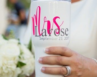 Custom Wedding Day Tumblers Set