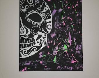 Sugar Skull Splatter painting