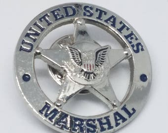 Vintage United States Marshal Pin Brooch