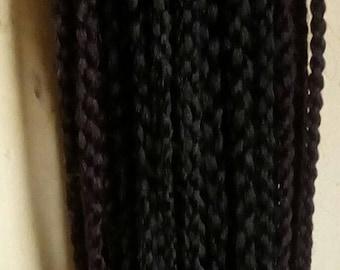 Four strand crochet braids